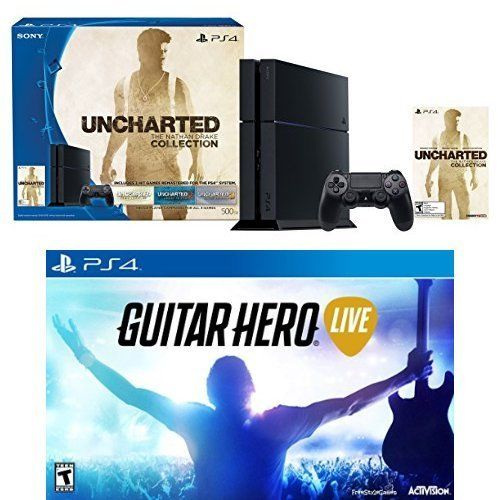 PS4 500GB Uncharted Bundle (voucher)+Guitar Hero Live Game and Guitar Controller