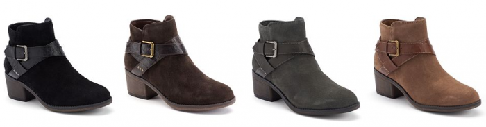 SONOMA life + style® Women's Buckle Suede Ankle Boots