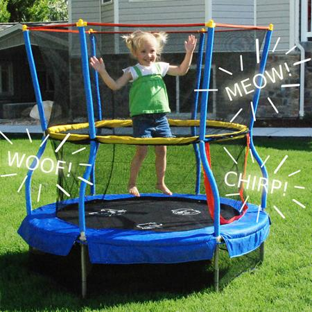 Skywalker Bounce-N-Learn 55 Round Trampolines with Safety Enclosure