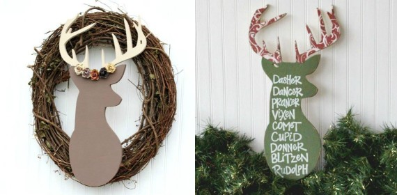 Unfinished Wooden Deer Head Craft