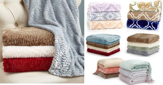 Velvet Plush Throw Blankets