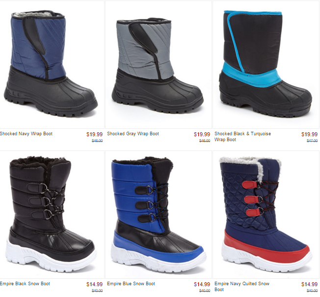 Kids Snow & Fashion Boots from $7.99! – Utah Sweet Savings