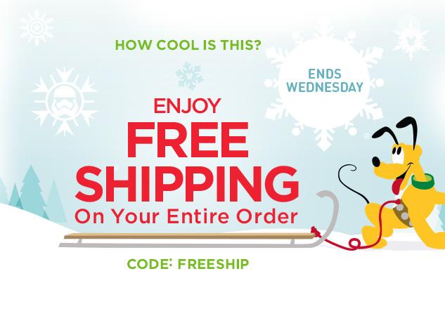 disneystore free shipping