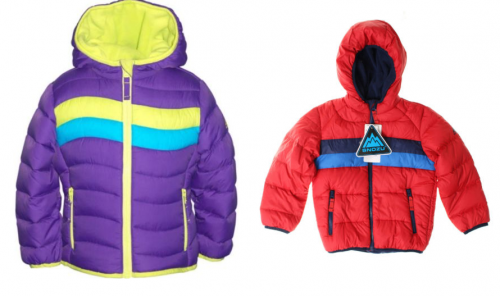 ebay down puffer hooded kids jackets