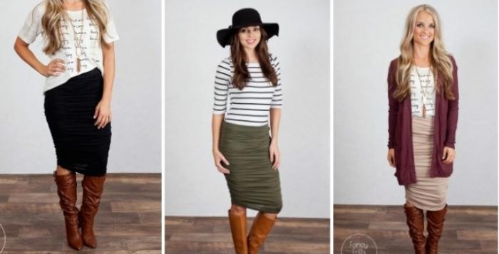fall pencil skirts