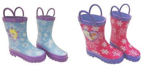 frozen rain boots