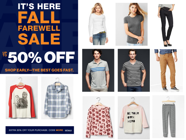 gap fall sale collage