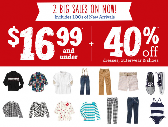 gymboree 16.99 and under sale