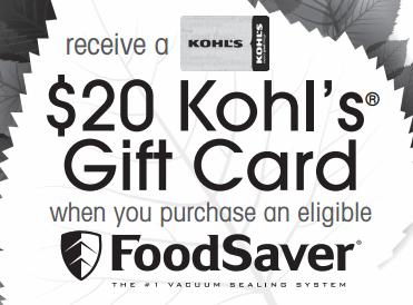 kohls food saver rebate