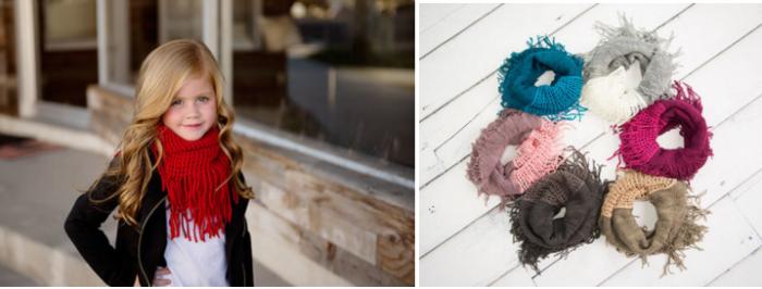 little girl fringe scarves