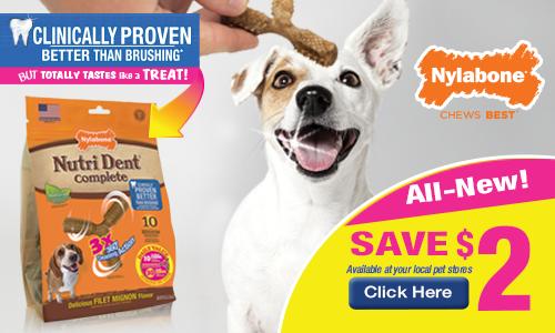nutrident 3 poitn dog treats coupon