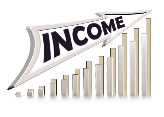 staying out of debt income