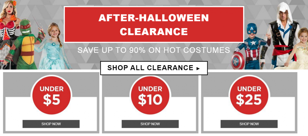 After Halloween Clearance