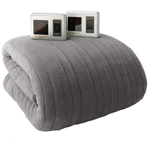 biddeford plush heated electric blanket king size. Black Bedroom Furniture Sets. Home Design Ideas