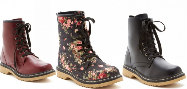 Designer Inspired Combat Boots - 8 Colors