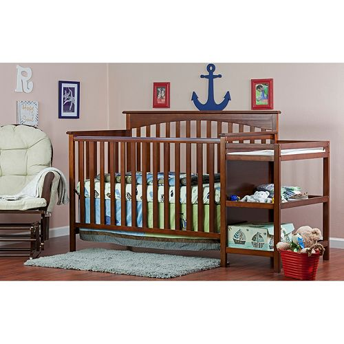 Dream On Me Chloe 4-in-1 Convertible Crib & Changer