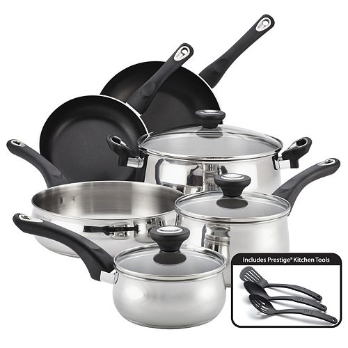 Farberware New Traditions 12-pc. Stainless Steel Cookware Set