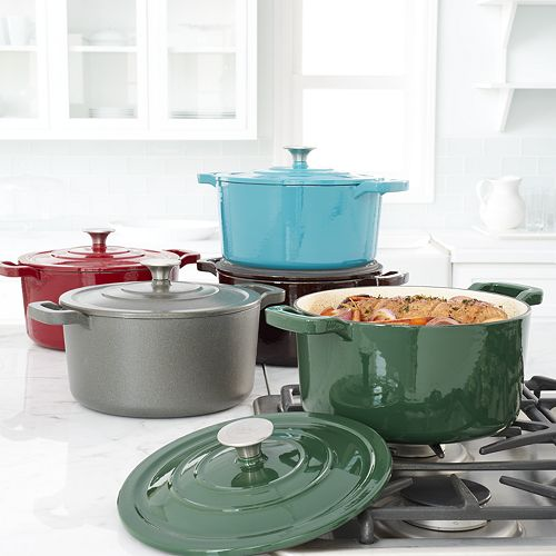Food Network 5.5-qt. Enameled Cast-Iron Dutch Oven