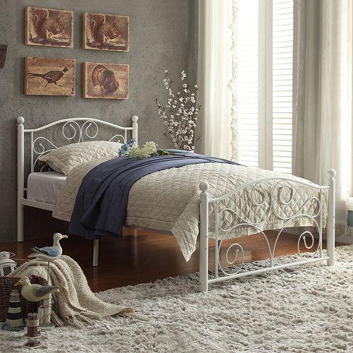 HomeVance Blanche Platform Bed