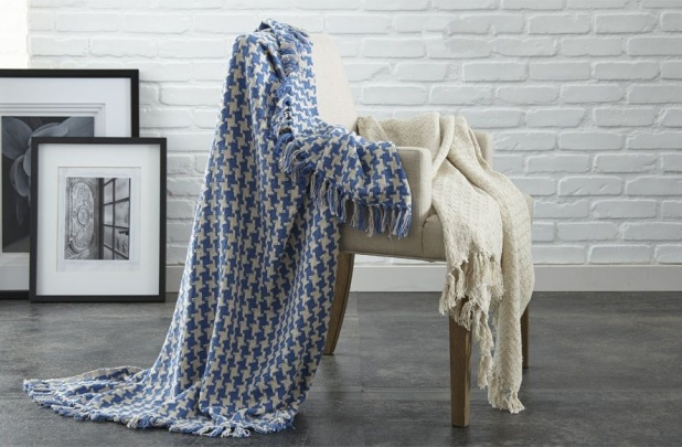 Houndstooth Cotton Throws