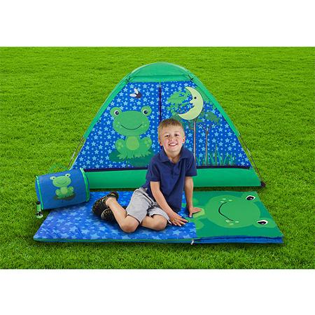 Kids 4-Piece Camping Combo with Carry Bag frog