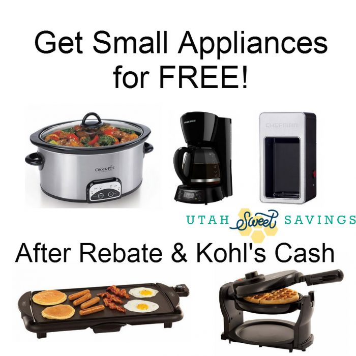 Chefman Coffee Maker Kohls : Small Appliances for FREE! *Coffee Makers, Crock Pot, Waffle Maker, and Griddle!*