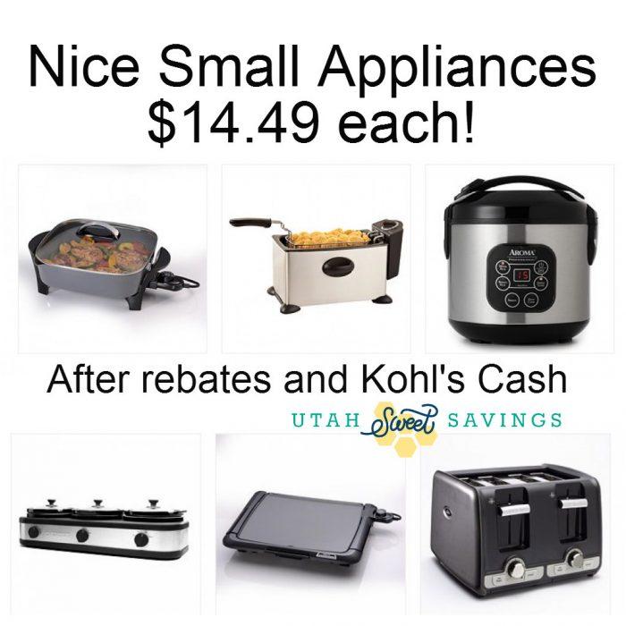 Kohl's bigger appliances deal