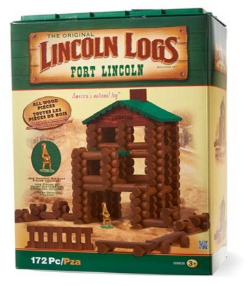 Lincoln Logs 172pc Fort Lincoln Wooden Building Set