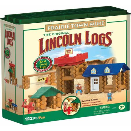 Lincoln Logs Prairie Town Mine Building Set