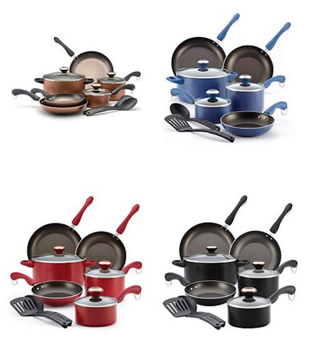 Paula Deen Dishwasher Safe Nonstick 11-Pc Copper Cookware Set