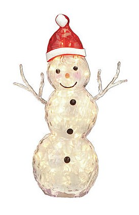 Trim A Home 30 Ice Snowman with 50 Mini Clear Lights