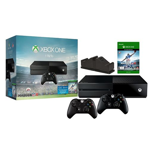 Xbox One Madden 16 1TB System Bundle with Charging Station