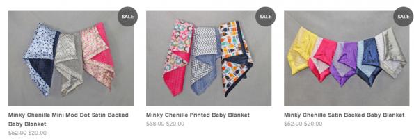bebe bella minky blankets