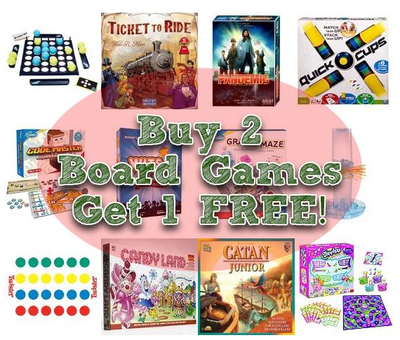 buy 2 board games get 1 free