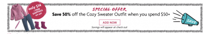 cozy sweater american girl