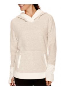 crossover polar fleece hoodie