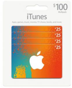 itune 25 gift card