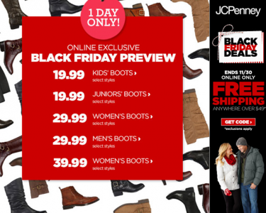 jcpenney online boot preview black friday