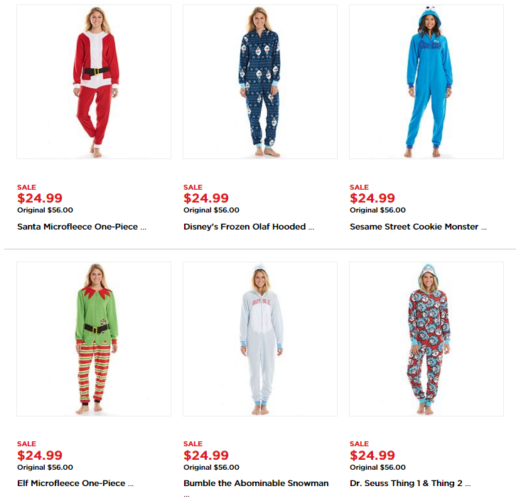 Character Hooded One-Piece Pajamas for $15.99, $11.67 after Kohl\'s ...