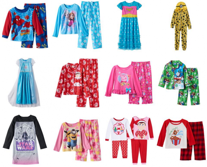 Kids Character Pajamas for $6.39! Includes Minions, Star Wars, Elf ...