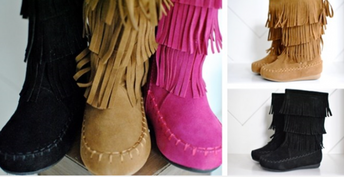 kids fringe boots