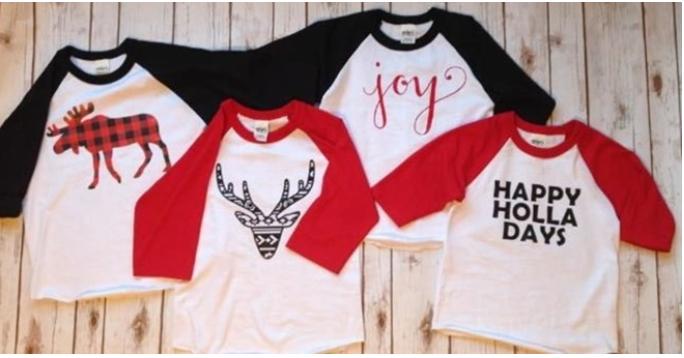 kids holiday shirts