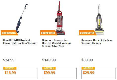 kmart vacuum doorbusters