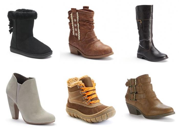 kohls boots 16.99
