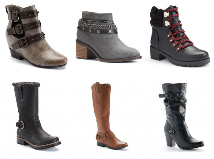 kohls boots and booties