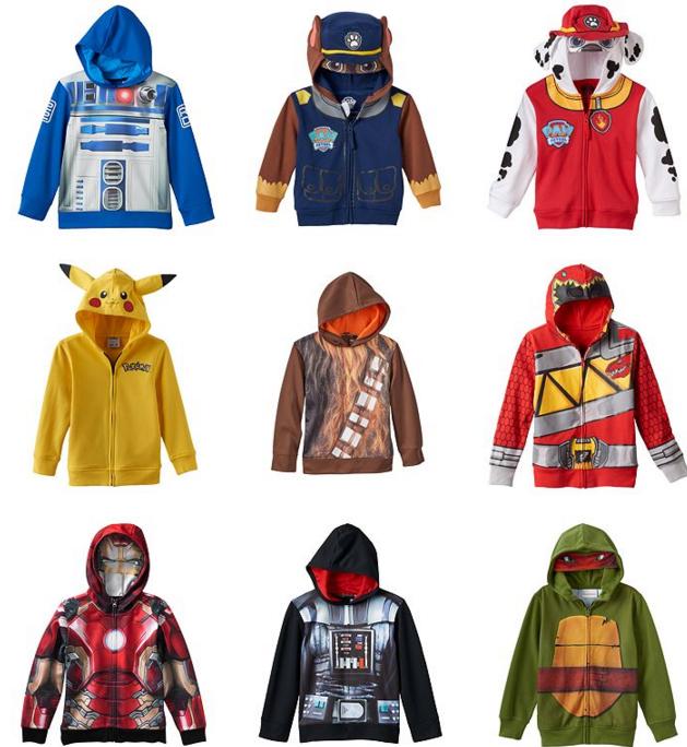 kohls kid character hoodies