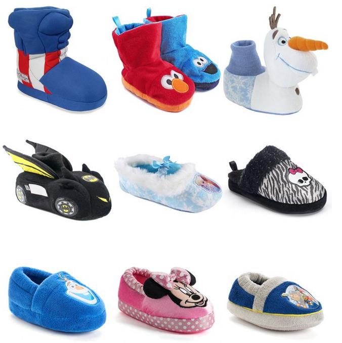 kohls kids character slippers socks