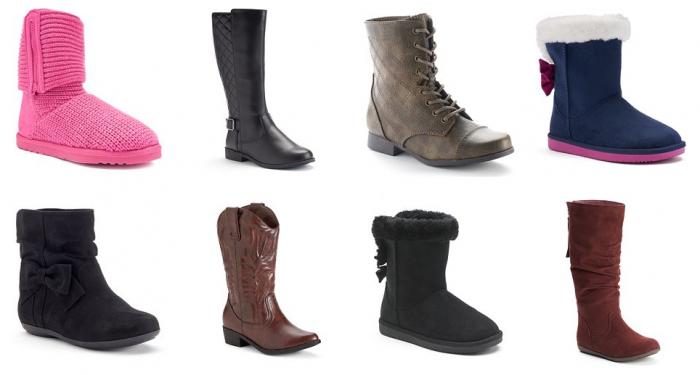 kohls sonoma girls boots