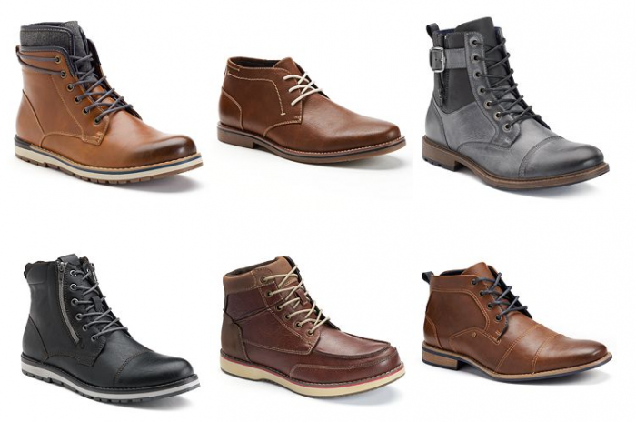 mens boots and shoes kohls
