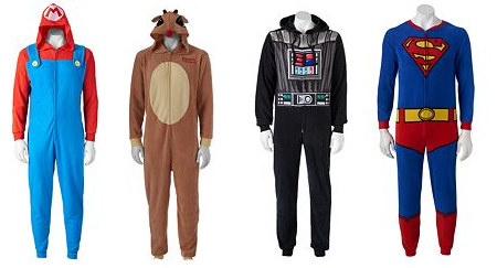 Character Hooded One-Piece Pajamas for $15.99, $11.67 after Kohl's ...